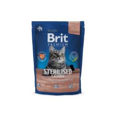 Корм Brit Premium Cat Sterilised для стерилизованных кошек, лосось/курица/куриная печень