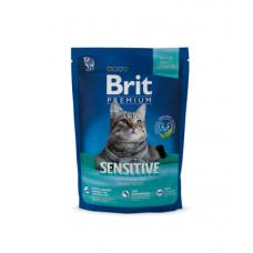 Корм Brit Premium Cat Sensitive для кошек с чувствительным пищеварением, гипоаллергенный, ягнёнок