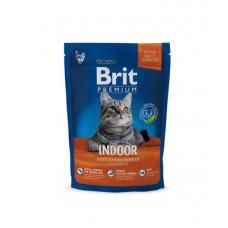 Корм Brit Premium Cat Indoor для кошек домашнего содержания, курица/куриная печень