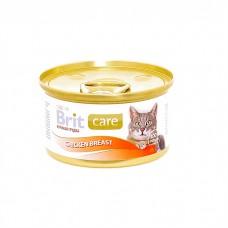 Корм Brit Chicken Breast для кошек, куриная грудка, банка, 80 г