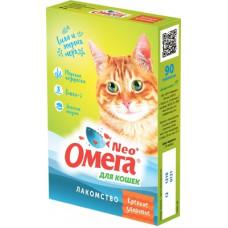"""Мультивитаминное лакомство Омега Neo """"Крепкое здоровье"""" для кошек, морские водоросли, 90 таблеток"""