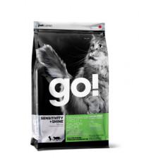 Корм GO! Sensitivity + Shine Grain Free Freshwater Trout&Salmon Cat Recipe 45/18 для котят и кошек с чувствительным пищеварением, беззерновой, форель/лосось