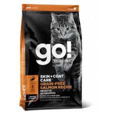 Корм GO! SKIN + COAT Grain Free Salmon Recipe CF 30/14 для котят и кошек, беззерновой, лосось