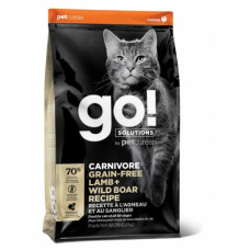 Корм GO! Carnivore GF Lamb + Wild Boar Recipe CF 42/15 для котят и кошек, беззерновой, ягненок/мясо дикого кабана, 7.26 кг