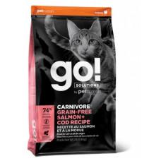 Корм GO! Carnivore GF Salmon + Cod Recipe for Cats 42/16 для котят и кошек, беззерновой, лосось/треска