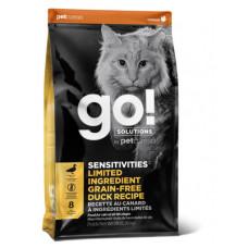 Корм GO! Sensitivities Limited Ingredient Grain FreeDuck Recipe CF 31/15 для котят и кошек с чувствительным пищеварением, беззерновой, свежая утка