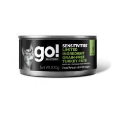 Корм GO! Limited Ingredient Grain-Free Turkey Pâté for cats для кошек с чувствительным пищеварением, беззерновой, индейка, банка, 100 г