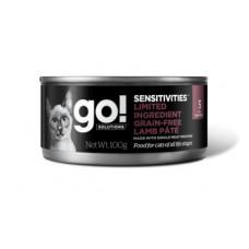 Корм GO! Sensitivities Limited Ingredient Grain Free Lamb Pate CF для кошек с чувствительным пищеварением, беззерновой, ягнёнок, банка, 100 г