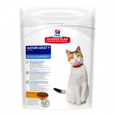 Hill's Science Plan для пожилых кошек старше 7 лет с курицей, Feline Mature Adult 7+ Active Longevity with Chicken