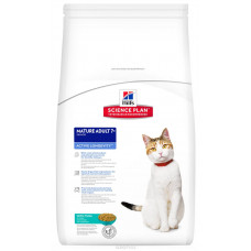 Hill's Science Plan для пожилых кошек с тунцом, Feline Mature Adult 7+ Active Longevity with Tuna