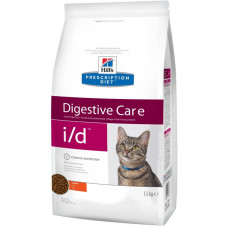 Hill's Prescription Diet i/d Feline для кошек при заболевании ЖКТ, 1.5 кг