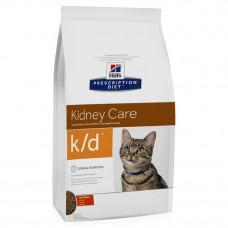 Корм Hills Prescription Diet Feline k/d при заболевании почек, диетический, курица, 1.5 кг