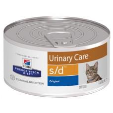 Корм Hills Prescription Diet s/d Urinary Care для кошек лечении мочекаменной болезни, диетический, банка, 156 г