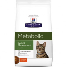 Корм Hills Prescription Diet Feline Metabolic для кошек, способствует снижению и контролю веса, 4 кг