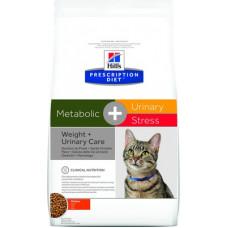 Корм Hills Prescription Diet Metabolic, + Urinary Stress  для кошек для профилактики цистита, вызванного стрессом, и для снижения и контроля веса, диетический, курица