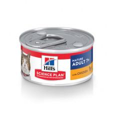 Корм Hills Science Plan Active Longevity для пожилых кошек (7+), поддержания здоровья в процессе старения, курица, паштет, банка, 82 г