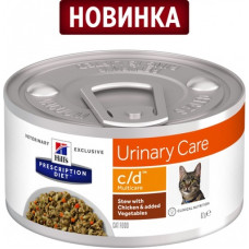 Корм Hills Prescription Diet c/d Multicare для кошек при профилактике мочекаменной болезни, курица, рагу, банка, 82 г