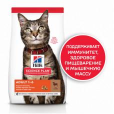 Корм Hills Science Plan Optimal Care для взрослых кошек для поддержания жизненной энергии и иммунитета, ягненок, 10 кг