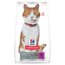Корм Hills Science Plan Sterilised Cat для молодых стерилизованных кошек и кастрированных котов, утка