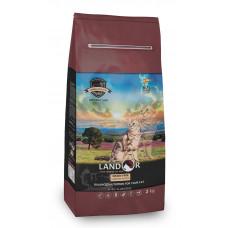 Корм Landor Grain Free для взрослых кошек, контроль веса и образования комочков шерсти, ягненок/батат
