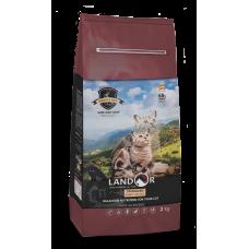 Корм Landor Sterilized & Light для кошек с избыточным весом и стерилизованных, кролик/рис, 10 кг