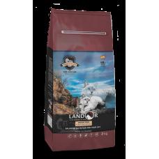 Корм Landor Grain Free для взрослых кошек, индейка/батат
