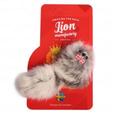 Lion Игрушка для кошки Мышь-босс, высокий, натуральный мех, 10 см