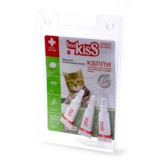 Капли репеллентные Ms.Kiss для котят и мелких кошек весом до 2 кг, 3 шт по 1 мл