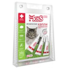 Капли репеллентные Ms.Kiss для крупных кошек весом более 2 кг, 3 шт по 2.5 мл