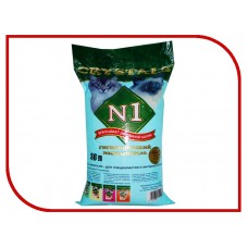 Наполнитель N1 Crystals, силикагелевый, синий, 30 л, 12.20 кг