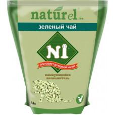 Наполнитель N1 Naturel Зеленый чай, комкующийся, древесный, гималайский кедр, 4.5 л, 1.75 кг