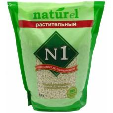 Наполнитель N1 Naturel Растительный, комкующийся, древесный, 4.5 л, 1.82 кг