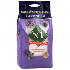 Наполнитель N1 Crystals Lavender, силикагелевый, лаванда, 5 л, 2 кг