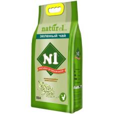 Наполнитель N1 Naturel Зеленый чай, комкующийся, древесный, гималайский кедр, 17.5 л, 7 кг
