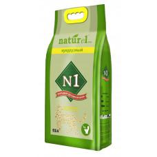 Наполнитель N1 Naturel Кукурузный, комкующийся, 17.5 л, 7 кг