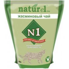 Наполнитель N1 Naturel Жасминовый чай, комкующийся, 4.5 л, 1.81 кг