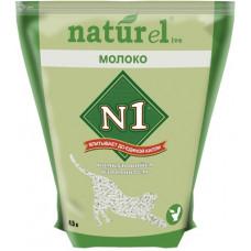 Наполнитель N1 Naturel Молоко, комкующийся, 4.5 л, 1.8 кг