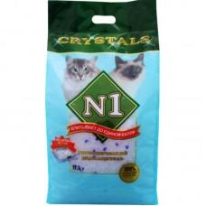 Наполнитель N1 Crystals, силикагелевый, синий, 12.5 л, 5 кг