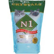 Наполнитель N1 Crystals, силикагелевый, синий, 3 л, 1.21 кг
