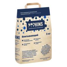 Наполнитель Napkins, впитывающий, крупная фракция, 3 кг, 6 л