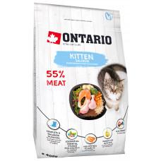 Корм Ontario Kitten Salmon для котят, лосось