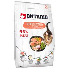 Корм Ontario Cat Sterilised Salmon для стерилизованных кошек, лосось