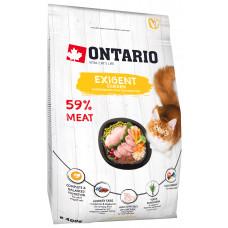 Корм Ontario Cat Exigent для особо требовательных кошек, курица