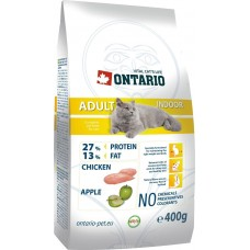 Корм Ontario Adult Indoor для домашних кошек, цыпленок