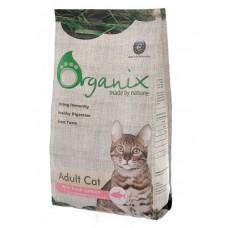 Organix для кошек со свежим лососем и рисом, Adult Cat Salmon, 7.5 кг
