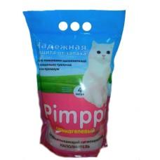 Pimppi силикагелевый розовый наполнитель, 4 л