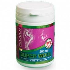 Витамины для кошек улучшают состояние шерсти, кожи, когтей и профилактика дерматитов, 200 таб., Super Woo