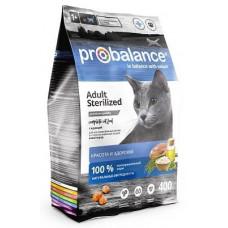 Корм ProBalance Sterilized для кастрированных котов и стерилизованных кошек, курица