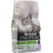 Корм Pro Plan Sterilised для кастрированных кошек, индейка, 1.5 кг