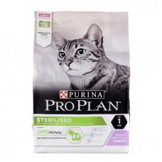 Корм Pro Plan Sterilised для кастрированных кошек, индейка, 3 кг